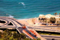 Cable car in Haifa, Israel Royalty Free Stock Images