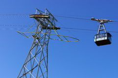 Cable car at height Stock Image