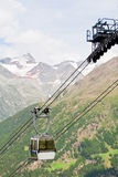 Cable car high in the mountains Stock Images