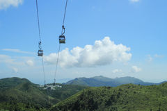 Cable car in hong kong Royalty Free Stock Photography