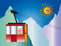 Cable car illustration vector illustration