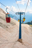 Cable car iun the Dolomites Royalty Free Stock Photography