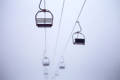 Cable car,. Winter, cable car, winter, fresh air Royalty Free Stock Photos