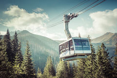 Cable car in Kasprowy Wierch peak in Tatra mountains, Poland. Royalty Free Stock Photo