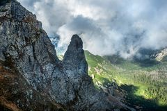 Cable car in Kasprowy Wierch peak in Tatra mountains, Poland. royalty free stock photography