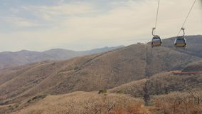 Cable car in Korea. Cable car on mountain in Korea Stock Image