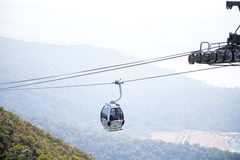 Cable car on Langkawi Island, Malaysia. Stock Image