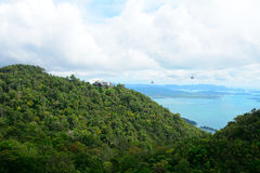 Cable car, Langkawi, Malaysia Stock Images