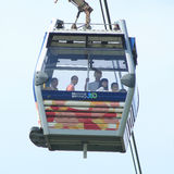 Cable car on Lantau Island Hong Kong Stock Photo