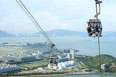 Cable car on Lantau Island Hong Kong Stock Photos
