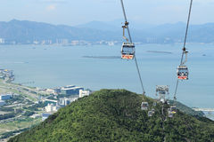 Cable car on Lantau Island Hong Kong. Ngong Ping 360 cable car on Lantau Island, Hong Kong Stock Images