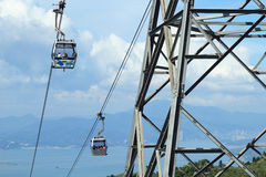 Cable car on Lantau Island Hong Kong Stock Photo