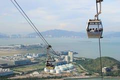 Cable car on Lantau Island Hong Kong Stock Photos