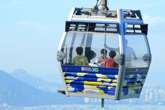 Cable car on Lantau Island Hong Kong Royalty Free Stock Photography