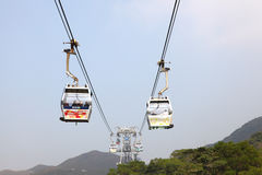 Cable car on Lantau Island, Hong Kong Stock Photo