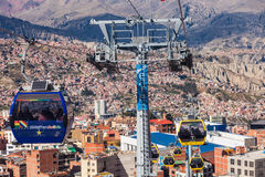 Cable car, Lapaz Stock Images