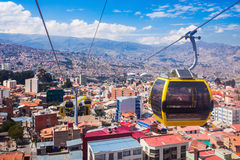 Cable car, LaPaz Royalty Free Stock Photos