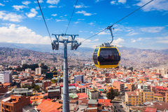 Cable car, LaPaz Stock Photo