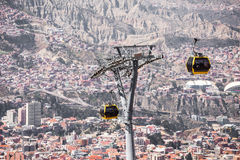 Cable car, LaPaz Stock Image