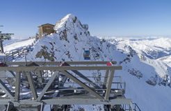 The cable car that leads to the top of the Hintertux Glacier. Royalty Free Stock Photos