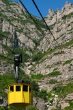 Cable car lift at Montserrat Royalty Free Stock Photography