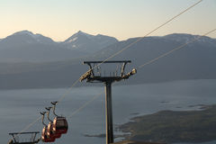 Cable car lift in Narvik Royalty Free Stock Image