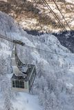 Cable car lift near Vogel ski center. In Julia Alps, Slovenia Royalty Free Stock Images