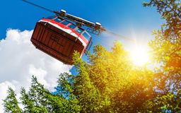 Cable Car Lift Ride Royalty Free Stock Photos