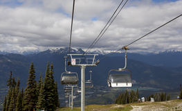 Cable car lift on top of Whistler Royalty Free Stock Photography