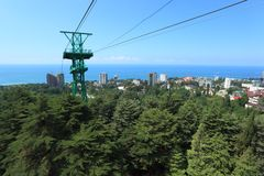 Cable car line in Sochi Stock Photography