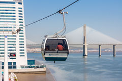 Cable Car in Lisbon Stock Image