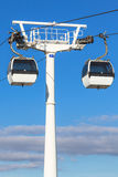 Cable car in Lisbon, Portugal Royalty Free Stock Images