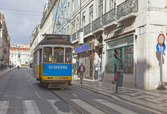 Cable Car in Lisbon Stock Images