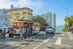 Cable Car Lombard street Royalty Free Stock Photo