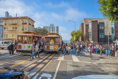 Cable Car Lombard street Royalty Free Stock Images