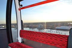 The Cable Car Greenwich and Victoria Docks London. Royalty Free Stock Photos