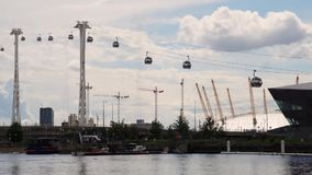 Cable car london motion stock video