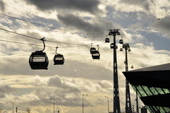 Cable car in London. Urban transportation system Royalty Free Stock Photos