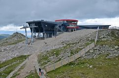 Cable car in low tatras. Cable car in the Low Tatras at the Chopok mountain in Slovakia stock image