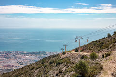 The cable car, Malaga, Spain royalty free stock photo