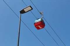 Cable car in Mamaia, Romania Royalty Free Stock Photos