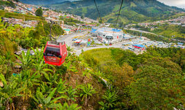 Cable car in Manizales, Colombia Royalty Free Stock Image