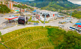 Cable car in Manizales, Colombia Stock Images