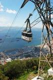 Cable car and marina, Gibraltar. Stock Photography