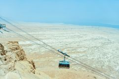 Cable car in Masada Israel stock images