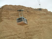 Cable car, Masada, Israel, Middle East Royalty Free Stock Photo