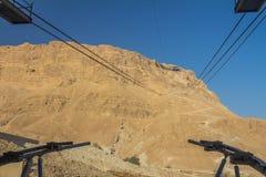 Cable Car in Masada Ruins in Israel Stock Photo