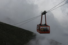 cable car mist obraz royalty free