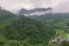 cable car with mist in Tianmen mountain zhangjiajie national par Stock Image