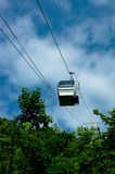 The cable car in the Moravian Karst. Royalty Free Stock Image